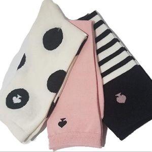 Kate Spade crew socks 3 pack